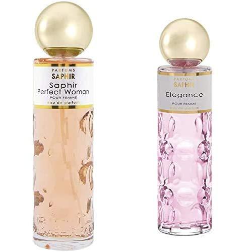 PARFUMS SAPHIR Perfect Woman Eau de Parfum con vaporizador para Mujer 200 ml + Elegance, Eau de Parfum con vaporizador para Mujer, 200 ml