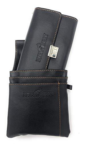 Blue Burry Unisex Kellnerbörse mit Kette und Holster Kellnertasche Kellnerportemonnaie Taxibörse Damen Herren (schwarz)
