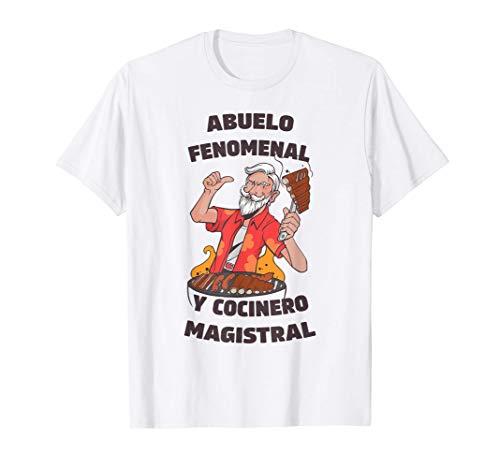 Hombre Abuelo Fenomenal Cocinero Masgistral Para Abuelos Cocineros Camiseta