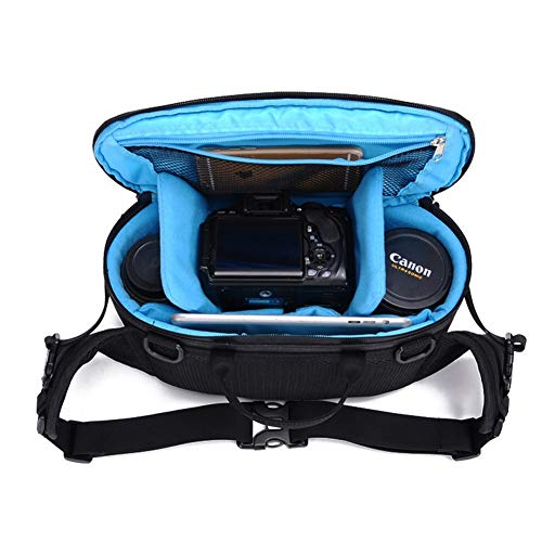 XBDZQ Bolsa De Camaraen Nueva Bolsa De Almacenamiento A Prueba De Agua Bolsa Multifuncional para Exteriores CáMara SLR Bandolera Bolsa De CáMara Digital Diagonal(Azul) Blue