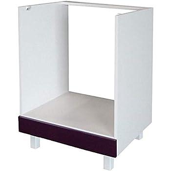Berlenus CF6B - Mueble bajo de Cocina para el Horno (60 cm), Color Berenjena Brillante: Amazon.es: Hogar