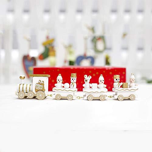 Ansenesna Weihnachten Deko Holz Kleiner Zug Christmas Schmuck Dekoration Holzfiguren