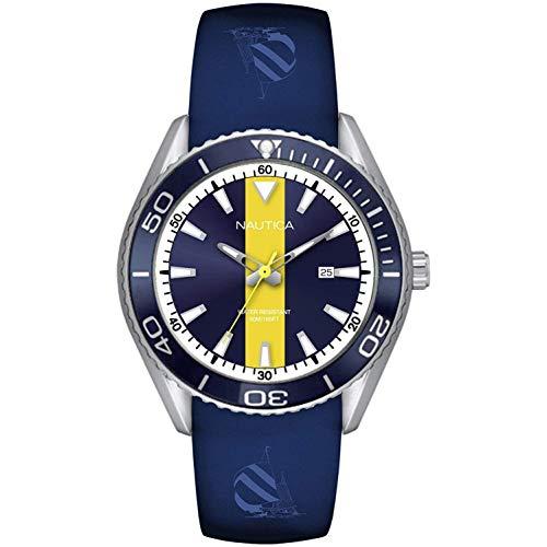 Nautica Men's Cruise Nac 10 NAPNAI809 Blue Silicone Quartz Fashion Watch