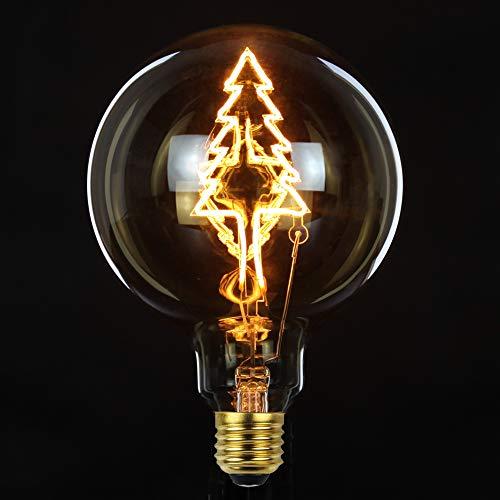 Tianfan LED-Leuchtmittel, Vintage-Glühbirne, riesige Globe, G125, 4 W, dimmbar, Weihnachtsbaum, LED-Glühfaden, dekorative Edison-Glühbirne