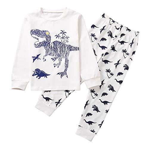 Babykleidung Satz, Neugeborenes Baby Jungen Dinosaurier Drucken Zweiteiliger Schlafanzug Lange Ärmel Tops + Hosen Pyjama Sets 18M-7Jahre