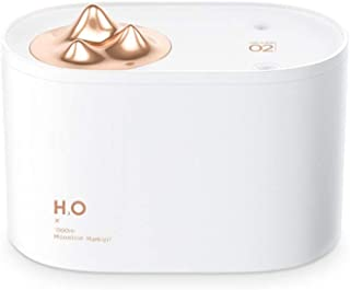 YHWW humidificador,1L Wireless Humidifier 3600mAh Battery Dual Spray Ultrasonic Electric Essential Oil Diffuser Aromatherapy Air Humidificador,White