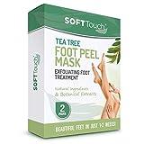 Tea Tree Foot Peel Mask – 2 Pack of Peeling Booties – Foot Care Exfoliating Treatment Repairs Cracked Heels, Calluses & Removes Dead, Dry Skin