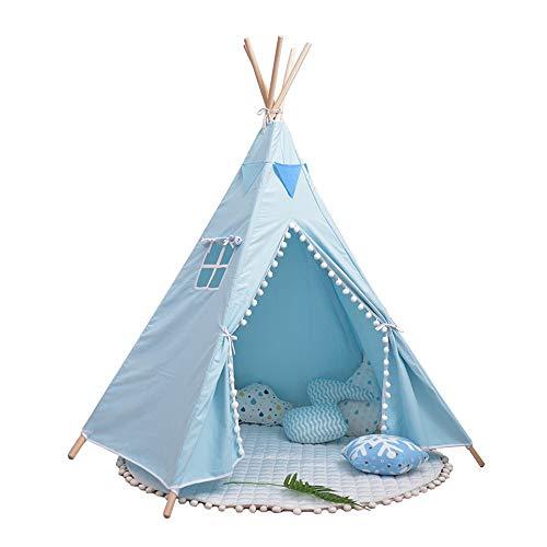 Carpa Infantil Carpa casa del juego for carpas de la India de los niños for interiores y exteriores Juegos Playhouse Toy para Juegos de Interior y Exterior ( Color : Blue , Size : 110x110x170cm )
