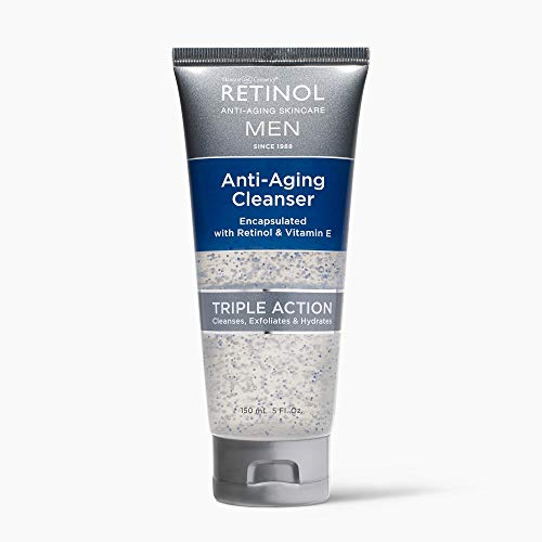 Retinol Men's Gel Cleanser - Gently exfoliates skin for improved texture and radiance and Removes impurities trapped in your pores