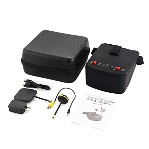 Für LS-800D 5,8G 5in 40CH FPV Brille Headset Empfänger Monitor mit HD DVR Dual Antenne Auto-suche Für RC Racing Drone