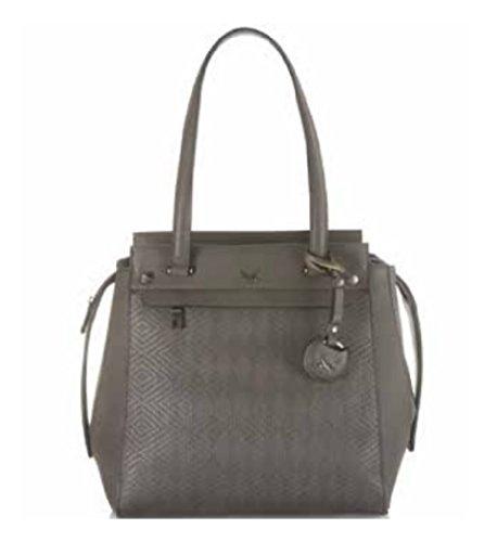 Boscha Sansibar Shopper Damen Henkeltasche grau 29 cm Handtasche Schultertasche
