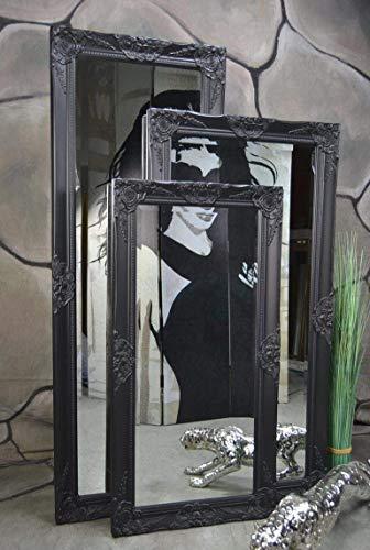 Livitat® Wandspiegel Badspiegel Spiegel barock antik Schwarz Landhaus Rokoko 140 x 50 cm LV9040