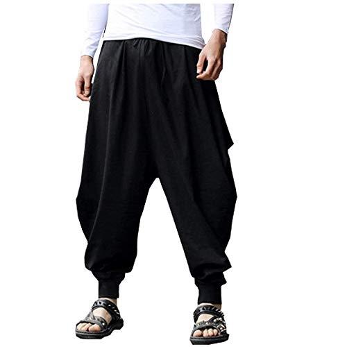Legging para mujer, pantalones de lino de algodón y lino de talla grande con cintura elástica para el tobillo para vacaciones de verano