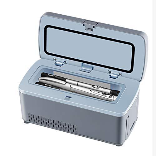 Frigorifero per auto Dispositivo di raffreddamento per insulina portatile Display a LED 2-8 ℃, Piccolo frigorifero per insulina per auto, viaggio, mini frigo domestico (con borsa a tracolla + batter