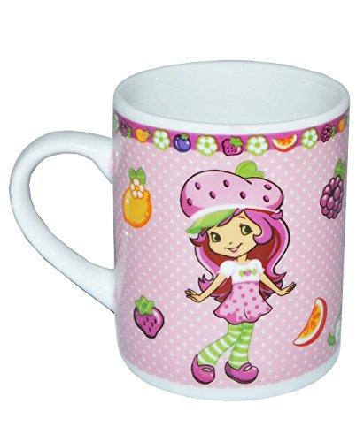alles-meine.de GmbH Henkeltasse klein - Emily Erdbeer - Porzellan / Keramik - Trinktasse mit Henkel Tasse / Espressotasse Becher Porzellantasse - Espresso - Tassen für Kinder Mäd..