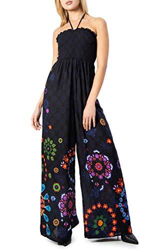 Desigual Jumpsuit Damen Pant Fiji 20swmw26 s schwarz