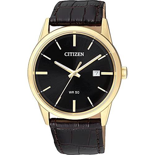 Citizen Orologio Analogico Quarzo Uomo con Cinturino in Pelle BI5002-06E