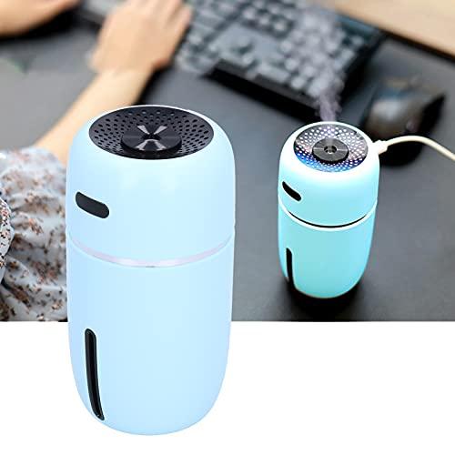 FECAMOS Humidificador, humidificador USB confiable Seguro de Usar sin radiación 200ml silencioso para Sala de Estar para Dormitorio(Blue, Pisa Leaning Tower Type)