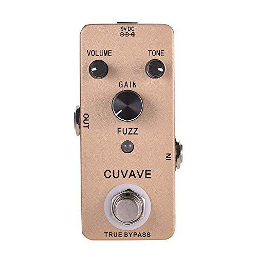 Muslady Weinlese-Fuzz - Pedal de efectos para guitarra (aleación de cinc, carcasa True Bypass, CUVAVE FUZZ)