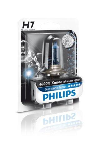 Philips 12972BVUBW Blue Vision Moto H7 Motorrad-Scheinwerferlampe
