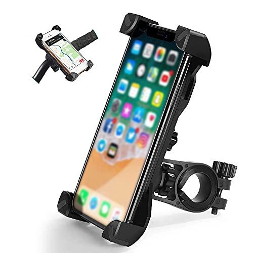 Staffa per telefono antiurto per mountain bike Base di rotazione a 360 ° Biciclette multiple Staffa per telefono universale da 3,5-6,5 pollici
