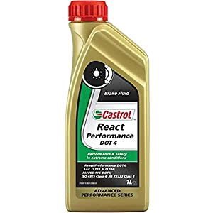 Castrol React Performance de líquido de frenos DOT 4 Botella transparente 1L Moto