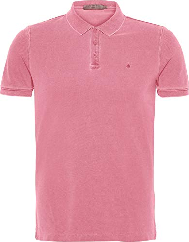 Calvin Klein Jeans Pedro 3 GMD Slim Polo SS Camisa, Pink, Large para Hombre