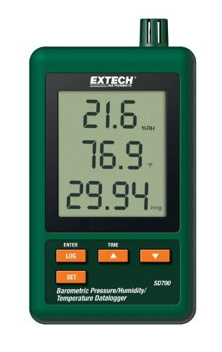 Extech Luftdruck-, Feuchte- und Temperatur-Datenlogger, 1 Stück, SD700