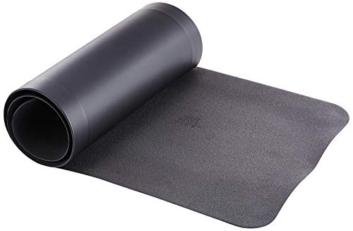 GelPro Anti-Fatigue Nonslip 1/2' Thick Hard Floor Utility Mat for Garage, Patio and Kitchen, 20' x 72', Leather Grain Black