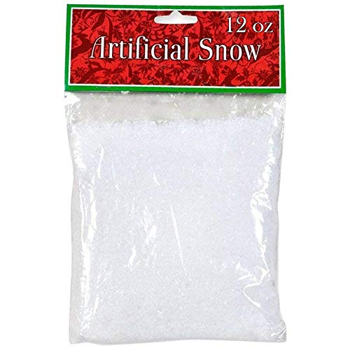 Gift Boutique Fake Snow 12 oz. Artificial Plastic Snow Flakes Faux Sparkling White Snowflakes for Christmas Tree Winter Village Display Decoration and Holiday Crafts Snow Globe Ornaments Decor