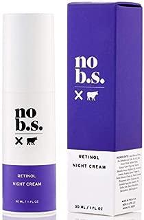 No B.S. Retinol Cream - Retinol Night Cream with Hyaluronic Acid. Potent Formulas. Clean Skincare.