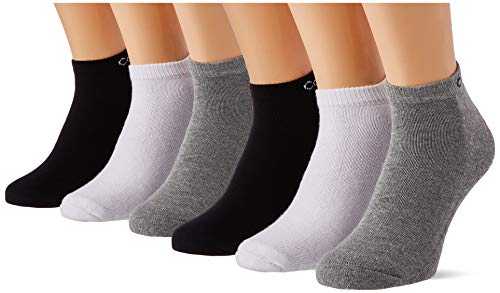 Calvin Klein Socks Mens Bonus Men's Liner (6 Pack) Socks, Grey Combo, ONE Size