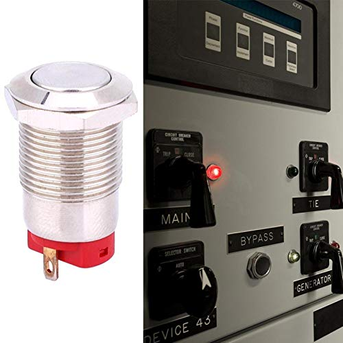 Interruptor de botón de 12 mm y 2 pines para equipos industriales(short hair)