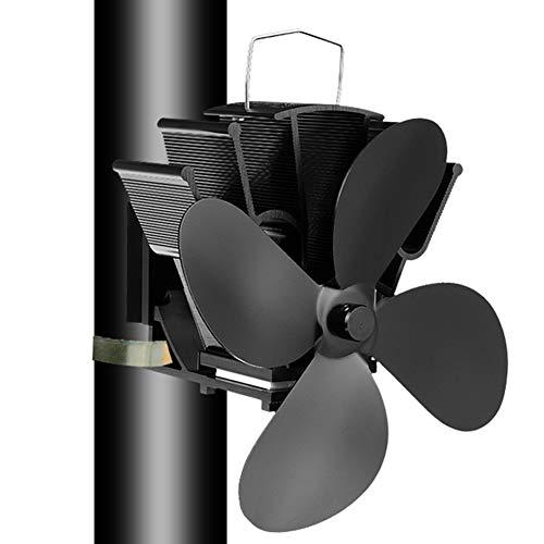 EastMetal Ventilador de Estufa, Ventilador de Chimenea 4 Palas, Mudo Diseño- Diseño Ecológico- Circulación de Aire Caliente, Ventilador para Chimenea de Pared, para Estufas de Leña/Leña/Chimenea