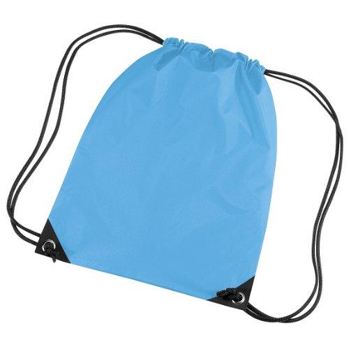 Bagbase - Sacca a Spalla per Palestra (11 Litri) (Taglia unica) (Azzurro mare)