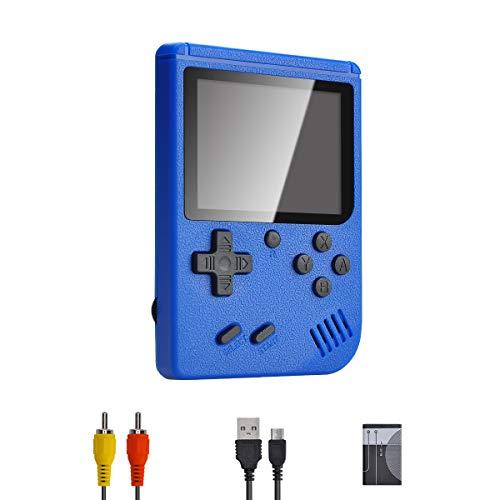 PASASABLE Mini Console di Gioco Portatile, Console di Gioco nostalgica Classica, Supporto Uscita Video TV, Adatta per Bambini Adulti (Blu)
