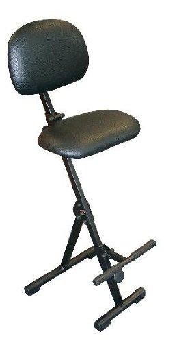 Stehhilfe mit Aufstiegshilfe, Sitz und Rücken Kunstleder schwarz