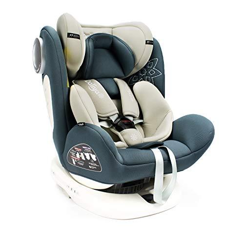 Daliya Sedion Kinderautositz 0-36KG 360° Grau, mitwachsender Autositz, Kindersitz GR. 0+1+2+3, Isofix Fix, Top Tether, 5 Punkt Sicherheitsgurt, incl. Sonnenverdeck, 2x Isofix Einbauhilfe…
