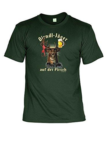 Wiesn T-Shirt - Dirndl Jäger - lustiges Bayerisches Sprüche Shirt ideal für's Oktoberfest statt Lederhose und Dirndl