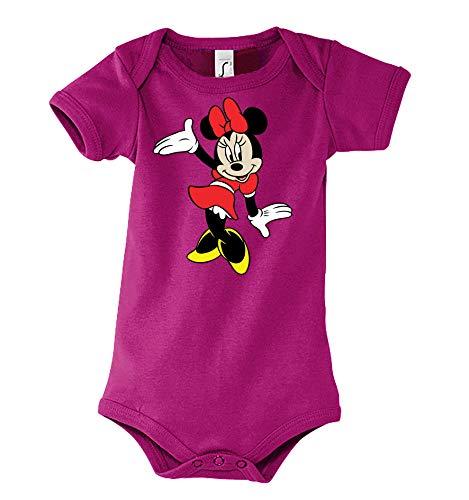 Youth Designz - Body para bebé y niña, diseño de Minnie Tanzt/talla 6-18 meses. fucsia 6-12 Meses