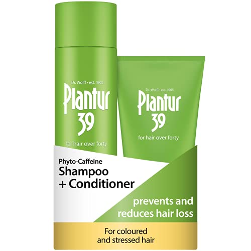 Plantur 39 Caffeine Shampoo and Conditioner Set Prevents and Reduces Hair Loss | For Coloured Stressed Hair | Unique Galenic Formula Supports Hair Growth | Set of 250ml Shampoo and 150ml Conditioner