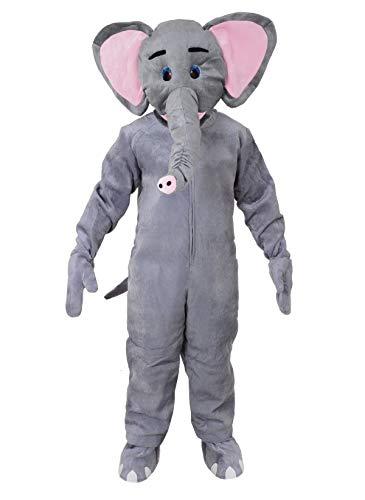 Elefant Einheitsgrösse XXL Kostüm Fasching Karneval Maskottchen Rummelpott Fastnacht Neu