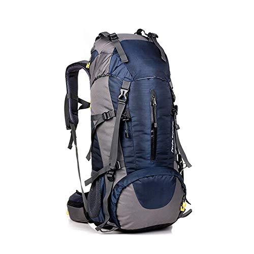 CXJC Sac à Dos De Randonnée 45+5L Pédestre Nylon Water Resistang Randonnée Camping Travel Alpinisme pour Les Voyages Trekking Voyage Sac à Dos,Blue