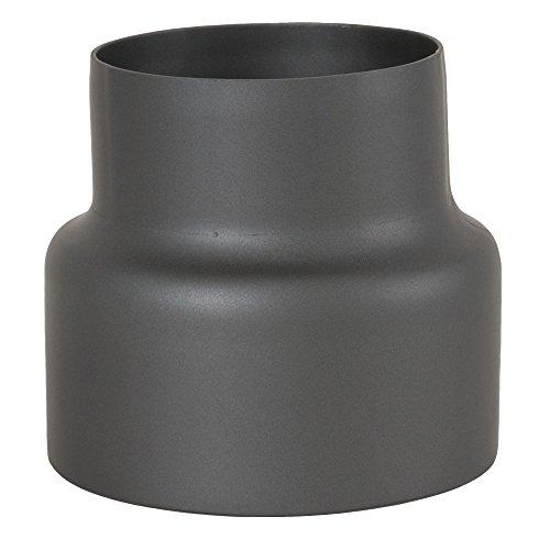 MULDENTHALER Reduzierung, Reduktion, Rauchrohr, Ofenrohr, Senotherm, 150 mm - 120 mm Gussgrau