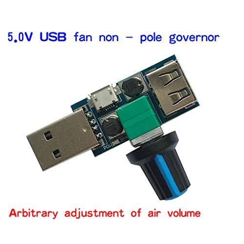 Preisvergleich Produktbild JOYKK USB-Lüftergeschwindigkeitsregler DC 4-12V Reduziergeräusch Einstellung mehrerer Regler - Schwarz