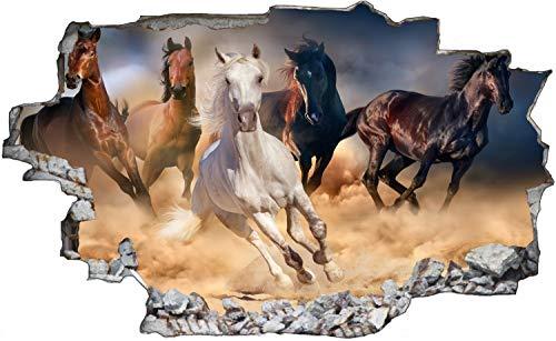 Pferde Rennen Pferd Tierwelt Wandtattoo Wandsticker Wandaufkleber C0970 Größe 70 cm x 110 cm