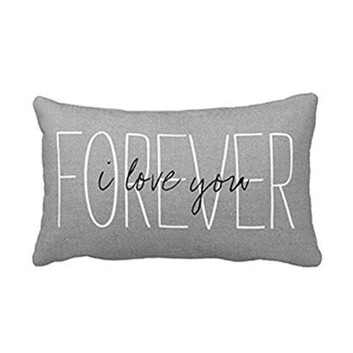 Zyyuk Soft Decorative Square Throw Pillow Case Cushion Covers Pillowcases for Livingroom Sofa Bedroom with Invisible Zipper 30 X 50cm——Gray