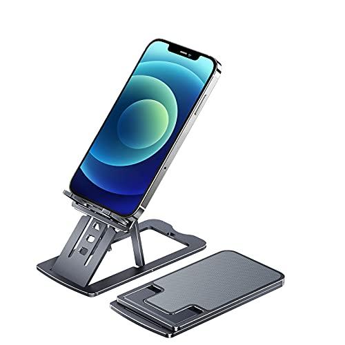 SmartDevil Soporte Móvil, Soporte Teléfono Soporte Dock Base para Teléfono para iPhone 12 11 Pro MAX XS XS MAX XR X 8 7 6 Plus 5 4, Samsung S10 S9 S8, Huawei, Soporte 4-12in - Gris