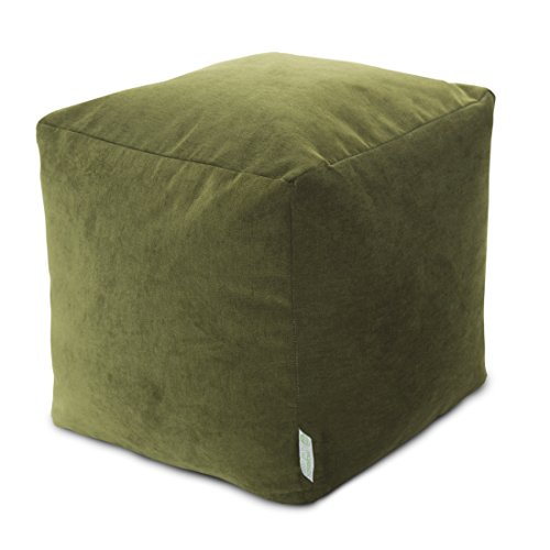 "Majestic Home Goods Fern Villa Indoor Bean Bag Ottoman Pouf Cube 17"" L x 17"" W x 17"" H"