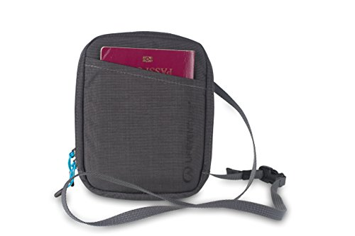 Lifeventure 68780 RFID Travel Neck Pouch (Grey) Unisex-Adult